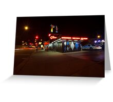 Popular Chicago hot dog place one night Greeting Card