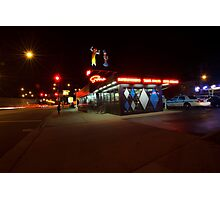 Popular Chicago hot dog place one night Photographic Print