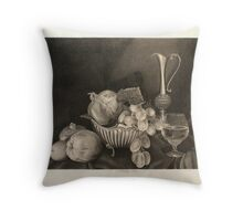 Stilllife with silver plate Throw Pillow