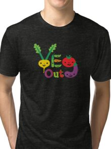 Veg Out Deux - on darks Tri-blend T-Shirt