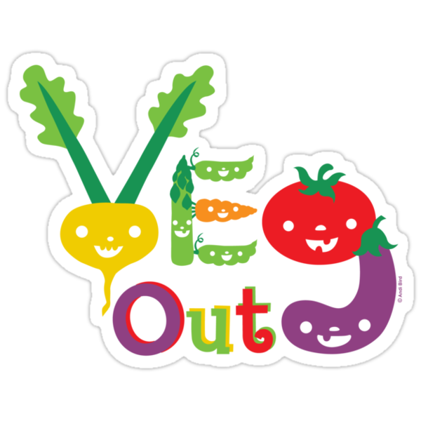 Veg Out Deux - on darks by Andi Bird