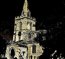 Weekley Church in Black and White, St Mary the Virgin  by bywhacky