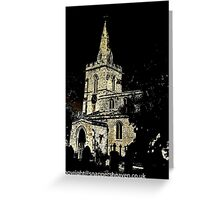 Weekley Church in Black and White, St Mary the Virgin  Greeting Card