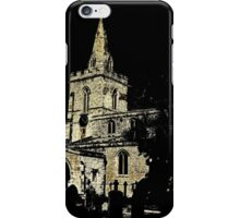 Weekley Church in Black and White, St Mary the Virgin  iPhone Case/Skin