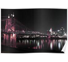 Roebling Bridge - Cincinnati, Ohio Poster