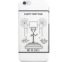 Art De Echo - Happy New Year iPhone Case/Skin