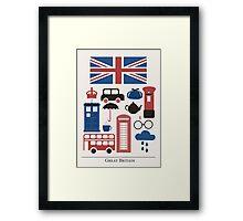 I heart Great Britain Framed Print