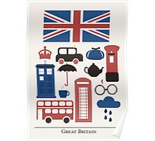 I heart Great Britain Poster