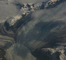 Glacier From 30,000 Feet by Aaron Stramiello