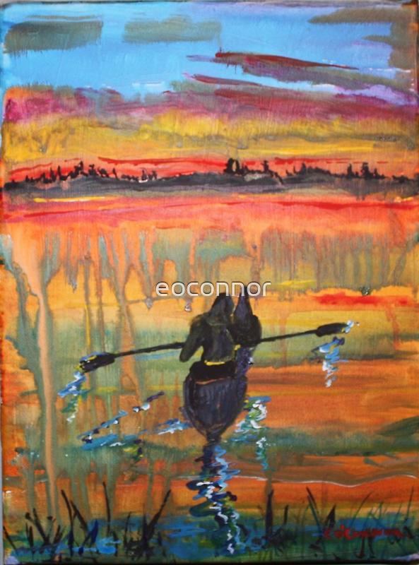 Kayaking Through a Crayola Sunset by eoconnor