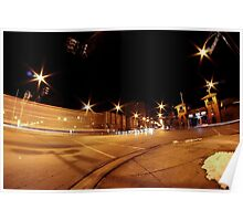 Winter street time exposure Poster