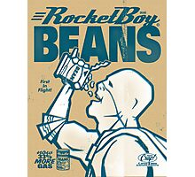 Vintage Rocketboy Beans Ad - Captain RibMan Photographic Print
