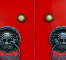 Chinese Door Knockers Sticker