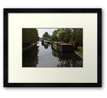 Houseboats on the Grand Union Canal at Cowley West London Framed Print