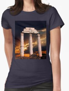 Roman Ruin Womens Fitted T-Shirt