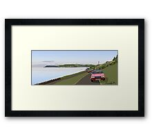 A Princess on the shore Framed Print