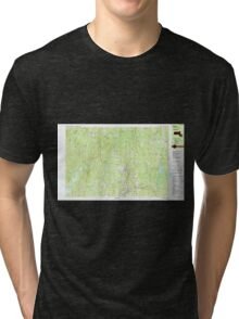Massachusetts  USGS Historical Topo Map MA Barre 350835 1988 25000 Tri-blend T-Shirt