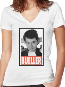 Ferris Bueller Women's Fitted V-Neck T-Shirt