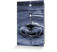 Water Bubble on Blue  Greeting Card