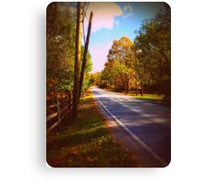 Autumn Road 1.0 Canvas Print
