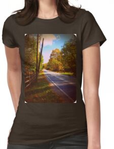 Autumn Road 1.0 Womens Fitted T-Shirt