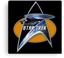 StarTrek Enterprise D Command Signia Chest Canvas Print