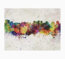 Halifax skyline in watercolor background Kids Clothes