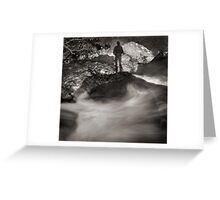 rock shadow Greeting Card
