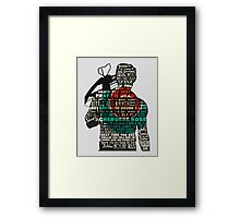 The Walking Dead - Daryl Quotes Silhouette  Framed Print