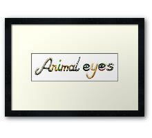 Animal eyes Framed Print