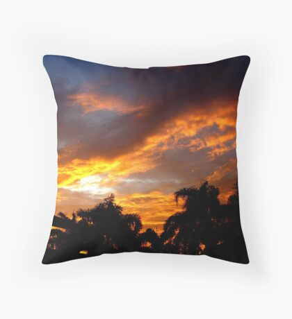 Sunset on the Cape Throw Pillow