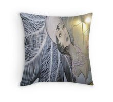 Porkchop's Mermaid Asbury Park, NJ  Throw Pillow