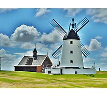 Lytham Windmill and Lifeboat Station . Photographic Print