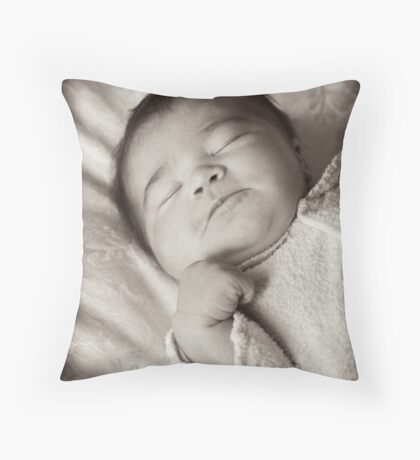 Sleeping ... haven't had enough yet! Throw Pillow