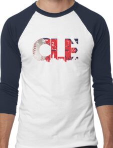 Cleveland, Ohio CLE Indians Shirts, Stickers, More Men's Baseball ¾ T-Shirt