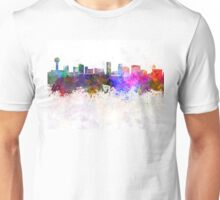 Knoxville skyline in watercolor background Unisex T-Shirt