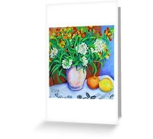 Citrus Still Life Greeting Card
