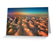 Sunset over the Tasman Sea Greeting Card