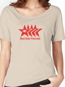 Red Star Parcels Logo Women's Relaxed Fit T-Shirt