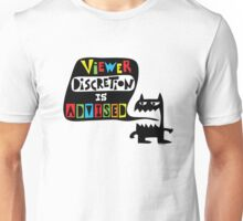Viewer Discretion is Advised - multi colored Unisex T-Shirt