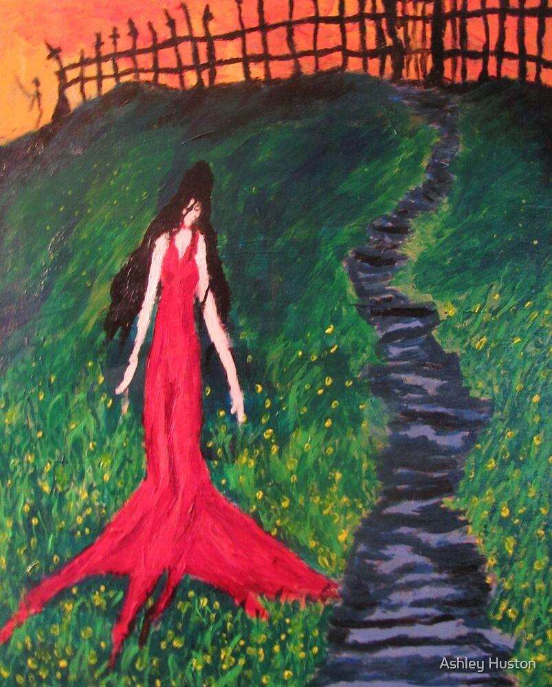 the RedLady On Hillside by Ashley Huston