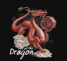 Year of the Dragon (for dark shirts) One Piece - Long Sleeve