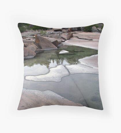 Lake Superior Shoreline - Marathon Ontario Throw Pillow