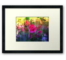 Painting Roses. Framed Print