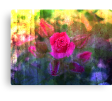 Painting Roses. Canvas Print