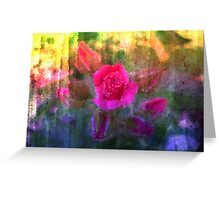 Painting Roses. Greeting Card