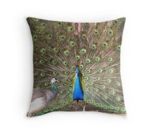 Peacock Partners for Life Throw Pillow