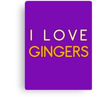 I LOVE GINGERS Canvas Print
