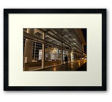 The Marvels of Rome - Admiring Ara Pacis at Night Framed Print