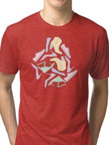 Shoe Pattern - Pastels Tri-blend T-Shirt